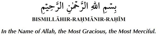 Recite Bismillah before starting any work